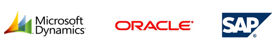 Microsoft, Oracle, SAP logo